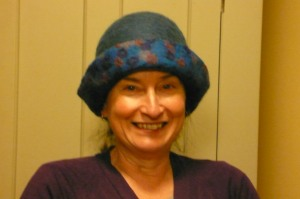Sue Hagley in felt hat