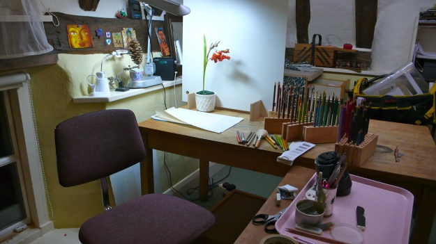 Sue Hagley's drawing space