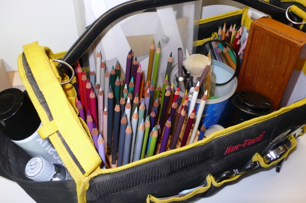 drawing kit in tool caddy
