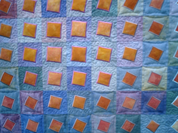 On Point quilt (detail) by Sue Hagley