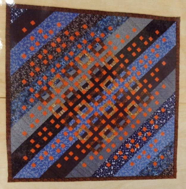 Orange Squares Quilt by Sue Hagley