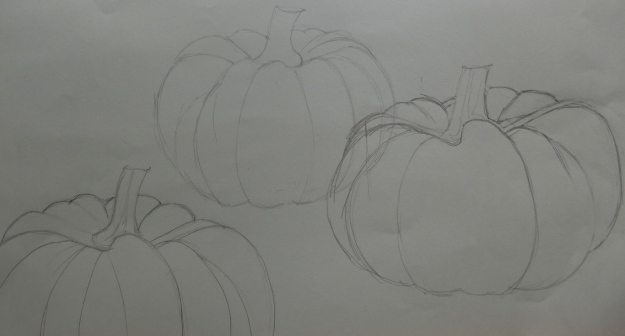 Pencil Sketch of Pumpkin