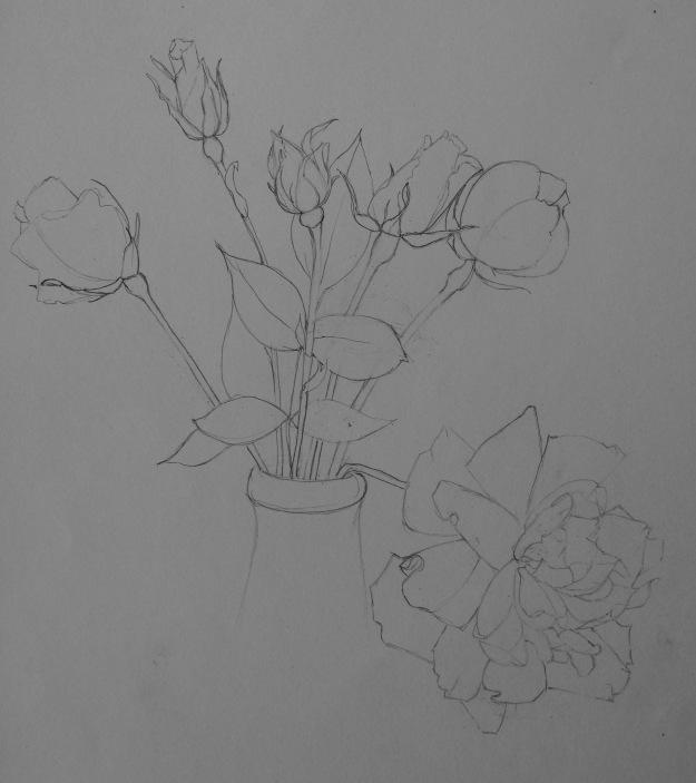 150 Vase of roses
