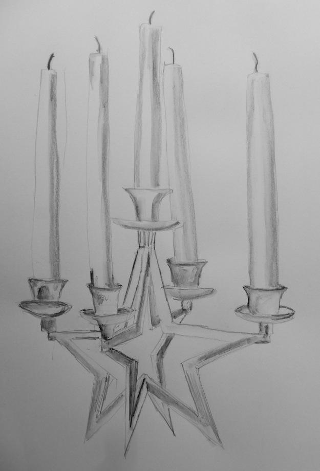 357 Star Candlestick