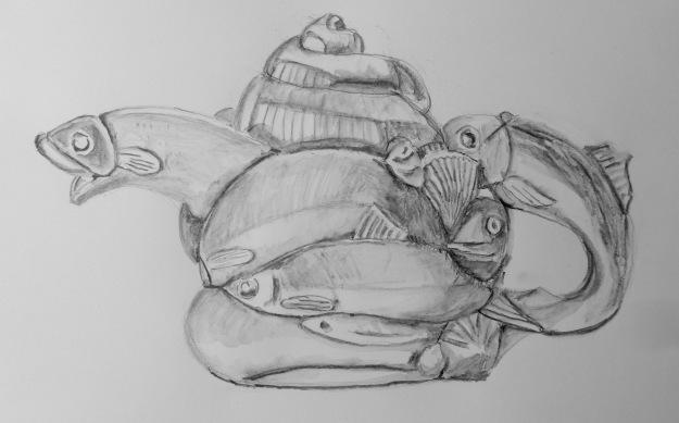 363 Andy Titcombs fishy teapot