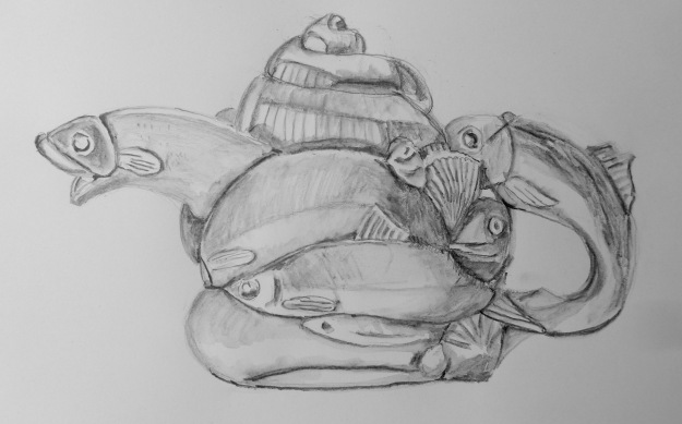 363 Andy Titcombs fishy teapot